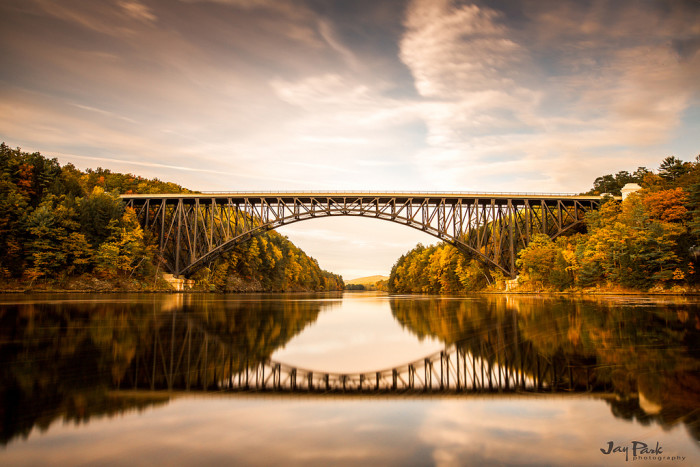 3. French King Bridge, Erving. This bike path and former railroad bridge offers a great view of the late afternoon sun. It spans the Connecticut River between Montague and Deerfield.