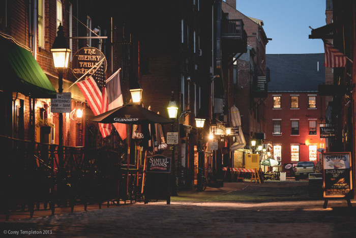 15. The cobblestone streets of Portland's Old Port. Pictured here is Wharf Street.