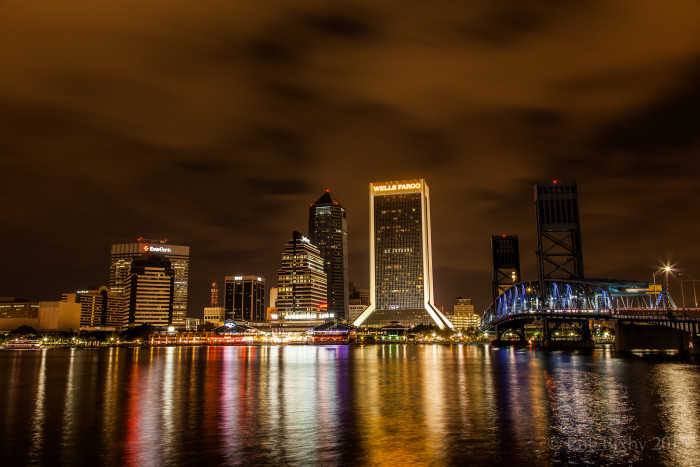 7. I'm loving the reflections of downtown Jacksonville on the St. Johns River.