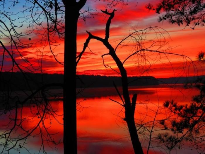 1. Sunrise on the lake.