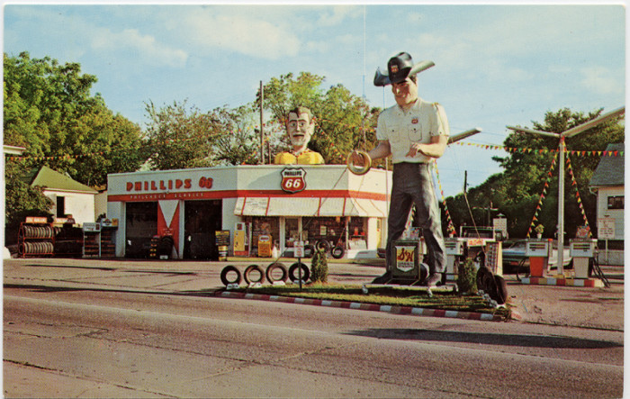 3. Vaughn's Phillips 66 Gas Station on Highway 20 in Fort Dodge was a pretty cool place to stop at.