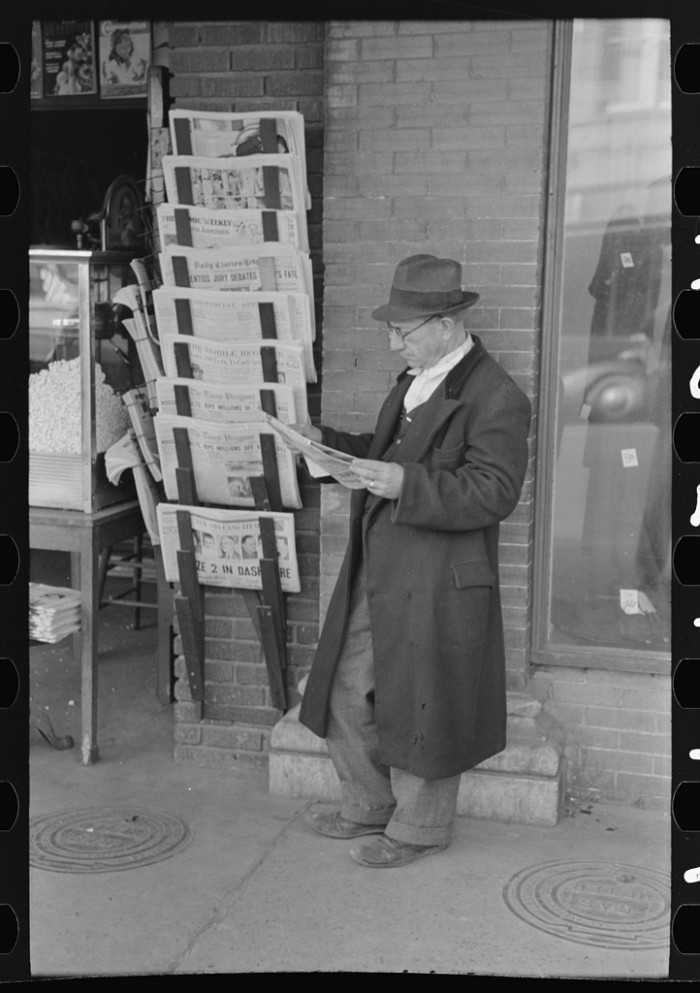 11. Long before the days of the Internet, residents frequented news stores, such as this one in Laurel.