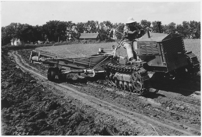 11.Equipment being pulled by tractor.