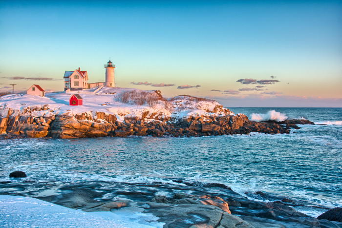 5. Nubble Light on a winter's day...