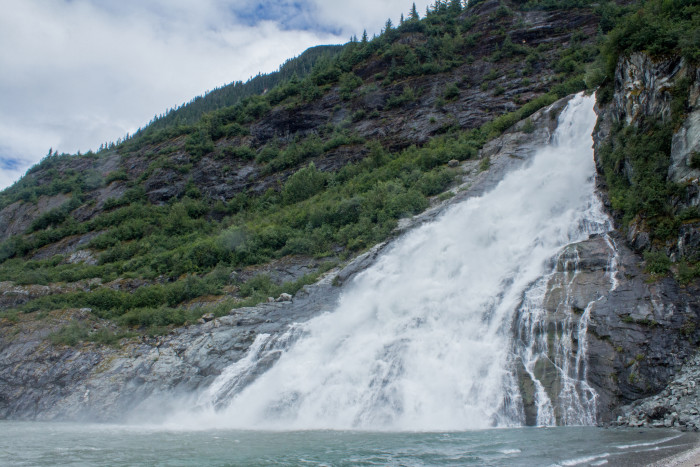 10) The Falls by Mendenhall Glacier