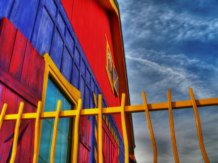 2. This colorful barn was found in Prescott. Stunning!