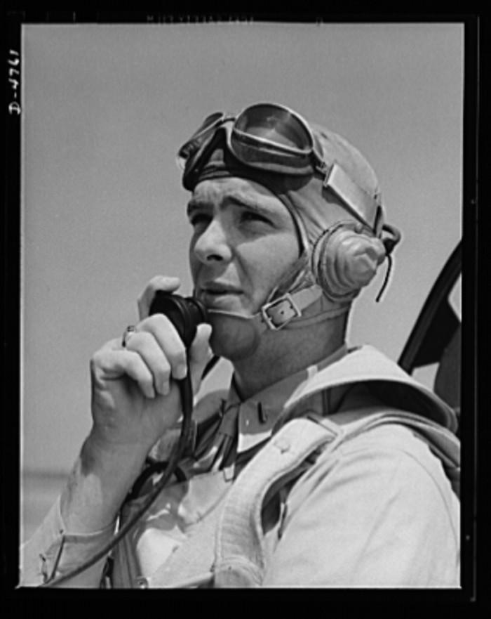 12. A Marine Corps Lieutenant at Parris Island. 1942.