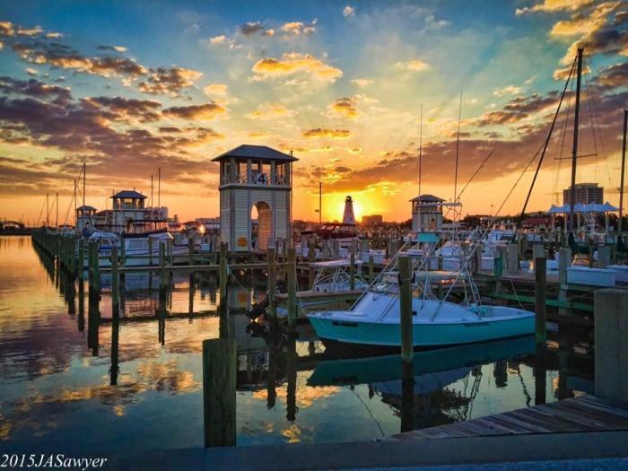 12. The Gulfport Harbor at Sunset