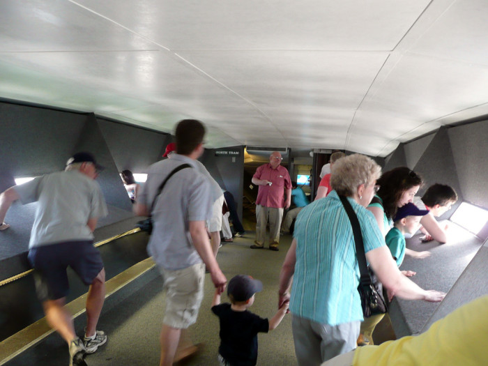 11. Inside the top of the Arch.