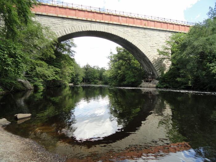 17. Echo Bridge, Newton. It spans the Charles River near Newton Upper Falls.