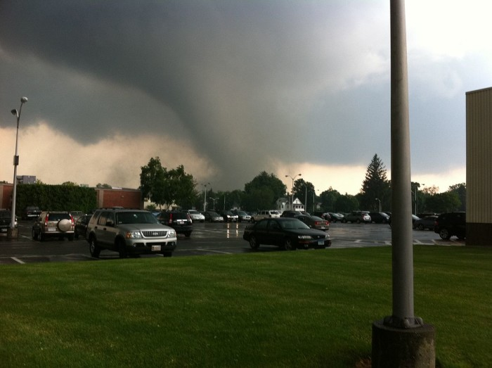 1. Tornadoes. No, really. In 2011, Massachusetts saw a rash of tornadoes that killed 3 and injured more than 200 people. That shot above was taken in SPRINGFIELD. Isn't that insane?