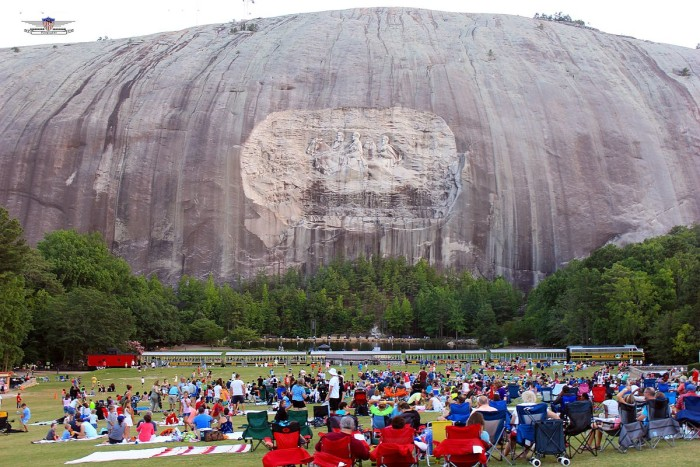 7. The world's largest sculpture is located on the face of Stone Mountain.