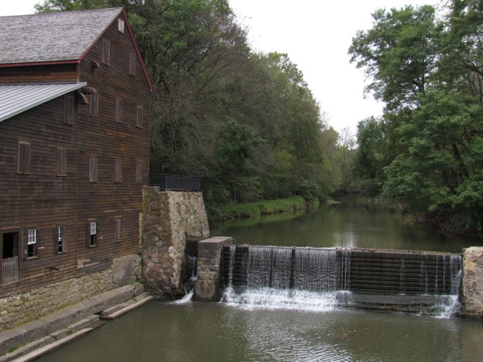 6. This charming scene, taken at the Pine Creek Grist Mill, looks like something out of a fairy tale.