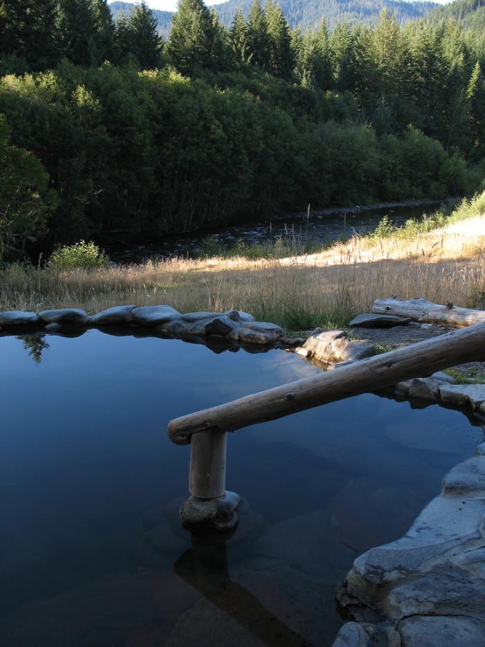 2. Relax at Breitenbush Hot Springs.