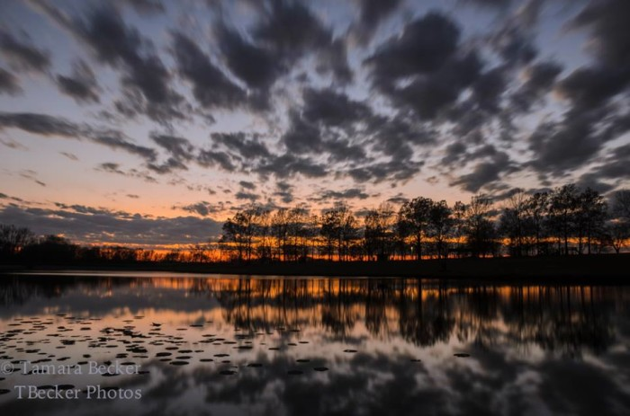 12. This breathtaking post-sunset sky captured over East Lake Park in Mt. Pleasant.