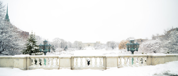 18. Snowfall at the Cleveland Museum of Art