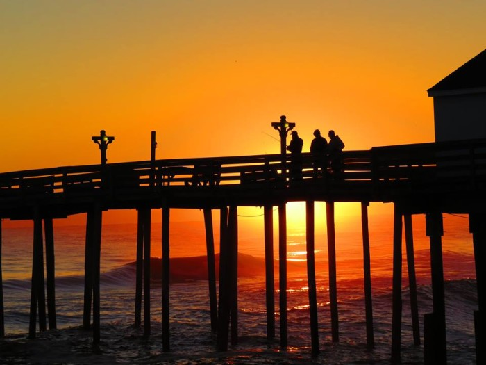 3. Morning on the pier.