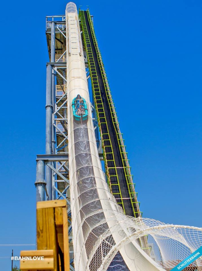 "10. You will never, ever, EVER find me on this ""crazy"" water slide!"