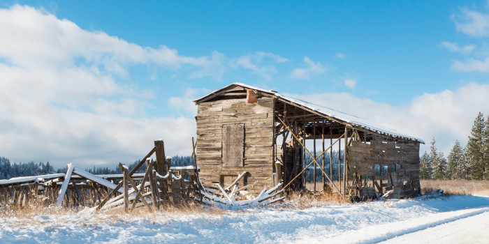 7. This old, forgotten hay barn was seen along the side of a dirt road in rural Eastern Washington.