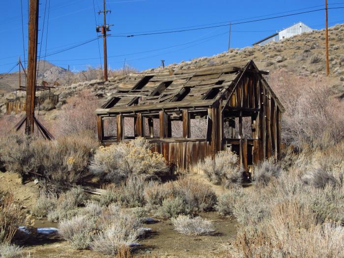 5. The ruin of a cabin in Silver City, Nevada.