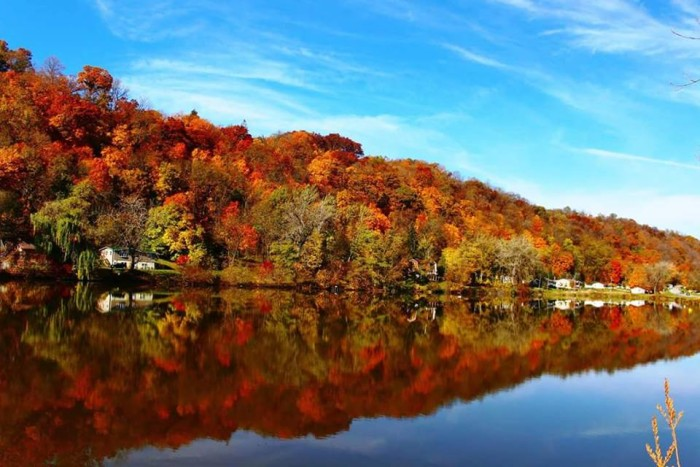13. This picture perfect scene of a crisp fall day in Guttenberg.