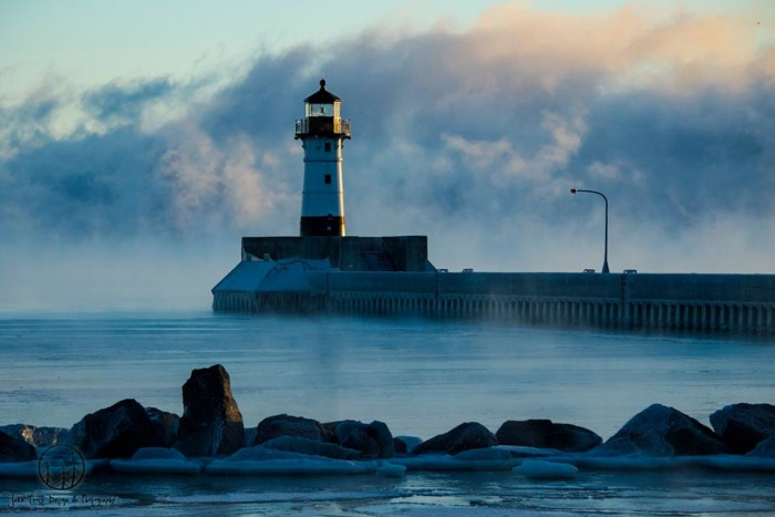 Another cold morning in Duluth, -14ºF in fact.
