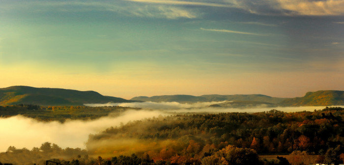 3. A soft sunset over the Berkshires.