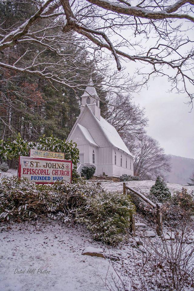 1. A snowy church.