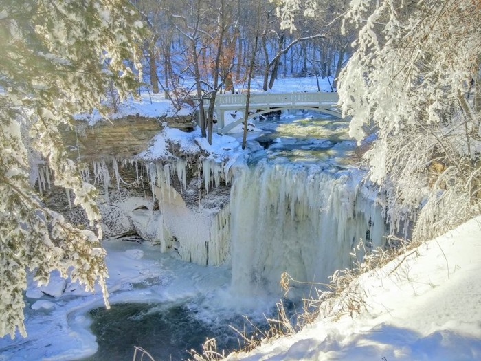 4. Minneopa State Park is absolutely beautiful in the winter.