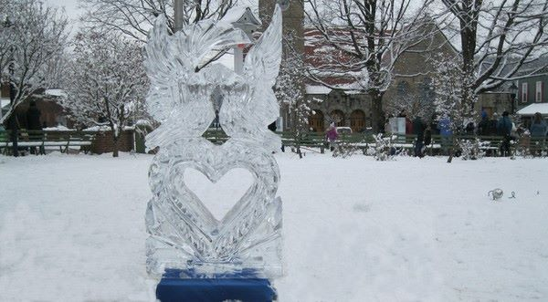 Admire the ice sculptures at Ligonier's Ice Fest, from January 23-24.