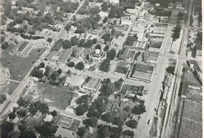 6. Aerial photo of DeRidder, Louisiana. 1950 or before.