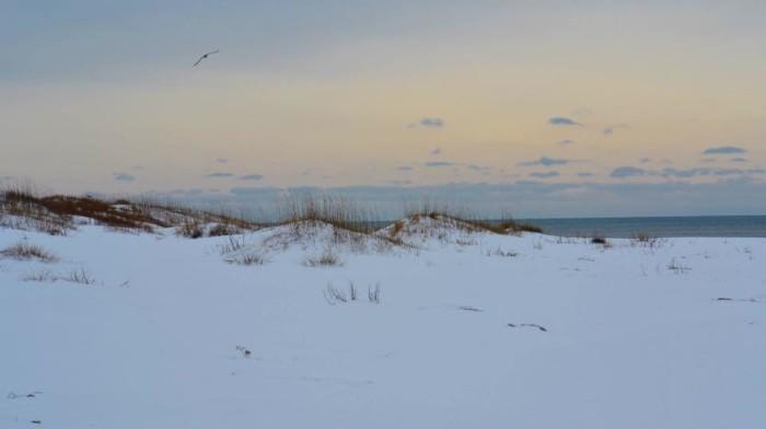 7. Snow dunes.