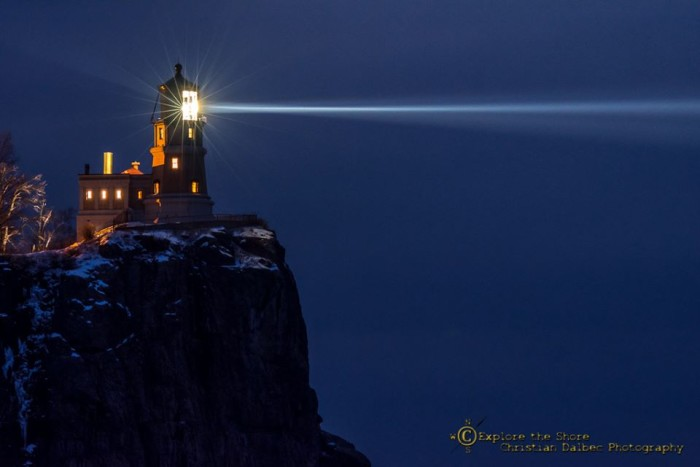 1. Split Rock Lighthouse at night is a majestic sight to behold.
