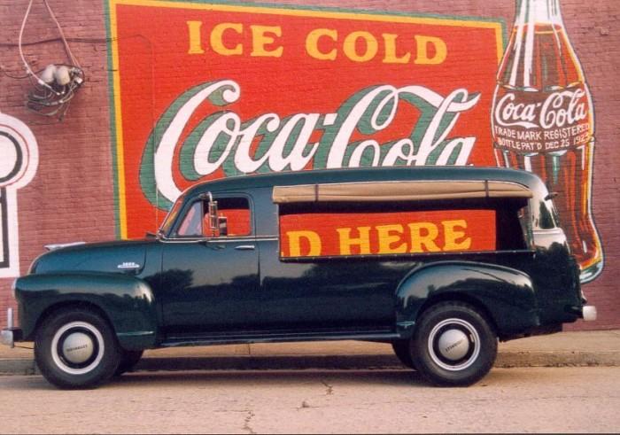 3. Coca-Cola Advertisement/1953 Chevrolet 3800 1-Ton Canopy Express, Atlanta