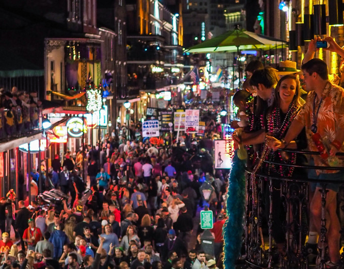 5. Bourbon Street on New Years Eve. It's so crowded you can barely walk.