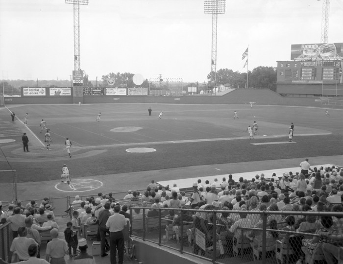 13.	A's vs. Yankees at Municipal Stadium, 1966