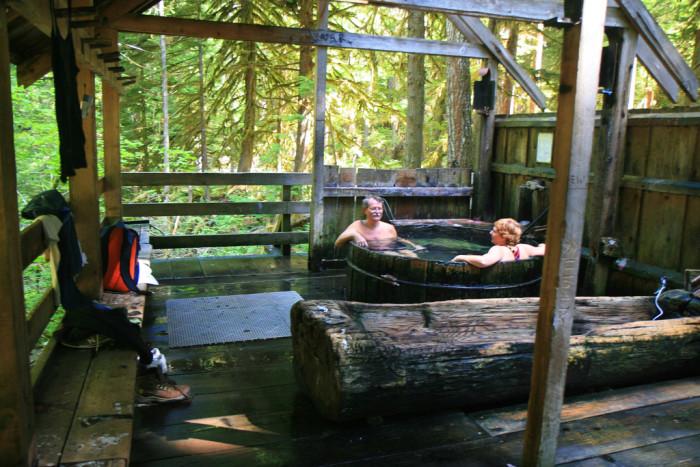 7. Soak in Bagby Hot Springs.