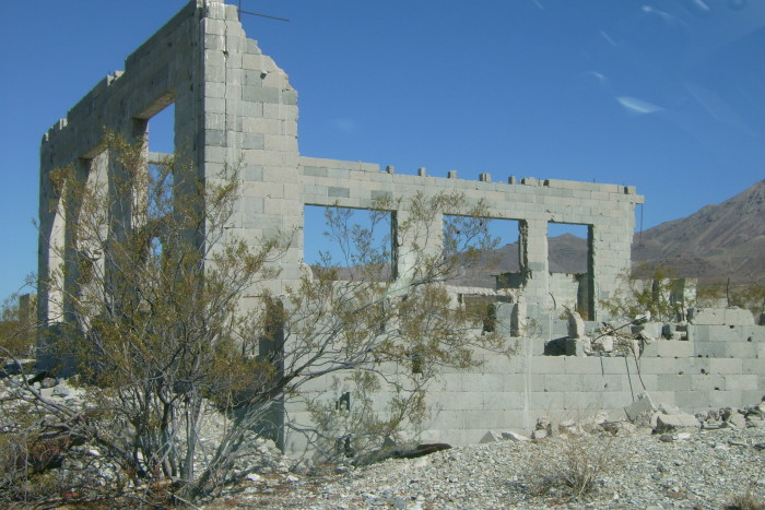 17. Las Vegas desert ruins.