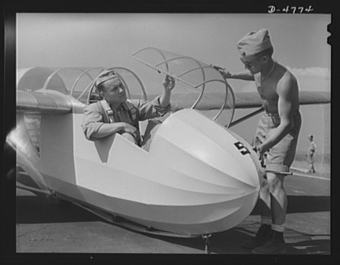 14. Marines at Page Field Parris Island during glider training. 1942.