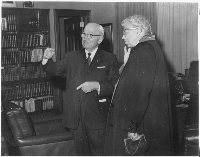 14.	Eleanor Roosevelt and Truman in Independence, 1960