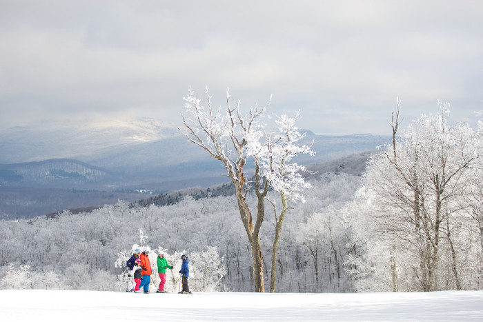 4. Jiminy Peak in Hancock is another amazing choice for a mountain adventure. It's the largest ski and snowboard resort in southern New England, summer home to Mountain Adventure Park and the only mountain resort in North America to generate its own energy using alternative wind power. But that view is enough for me.