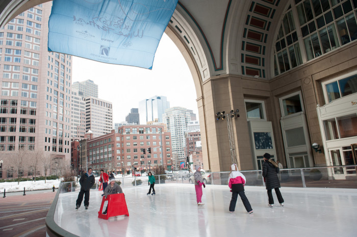 9. And don't miss skating at the Harbor Hotel outdoor ice skating rink either!