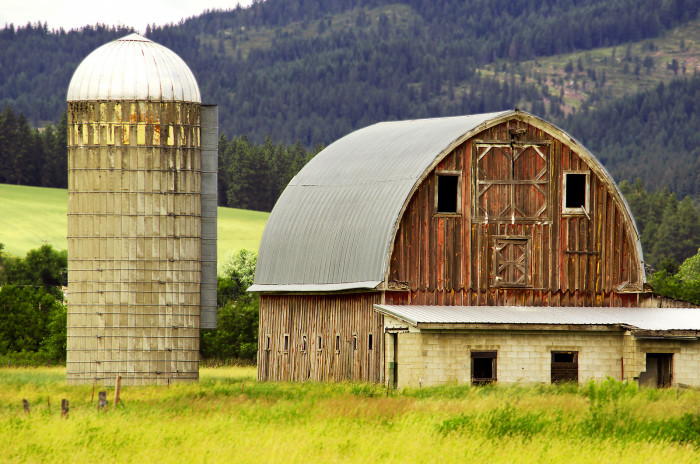 Old barn in Princeton, Idaho