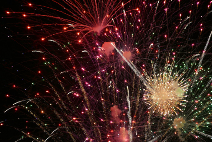 13. The 4th of July fireworks over Alamogordo.