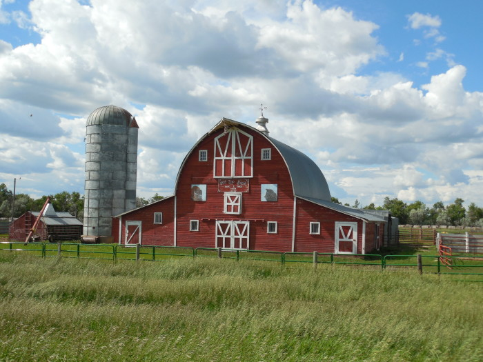 9. This 1934 barn south of Carson, ND