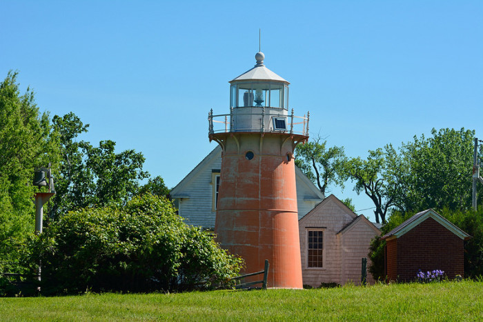 14.  Pink Lighthouse on Isle La Motte.