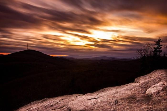 2. Rocky sunset.