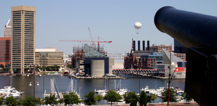 5) The Baltimore Inner Harbor from a unique perspective.