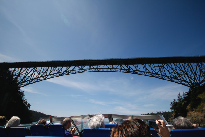 2. Go for a relaxing day cruise, like on the Deception Pass Tours.