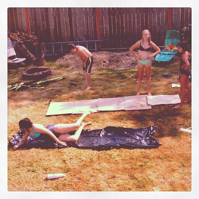 18.  When the Slip and Slide became huge we didn't have many toy stores to buy this new fad.